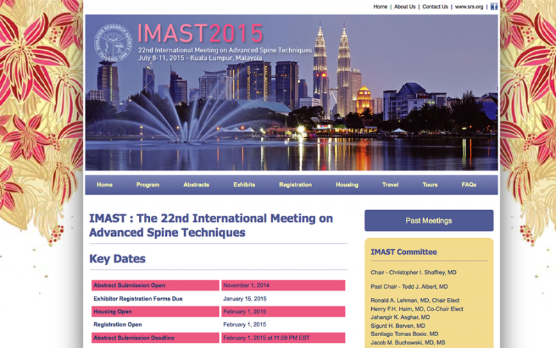 IMAST : The 22nd International Meeting on Advanced Spine Techniques