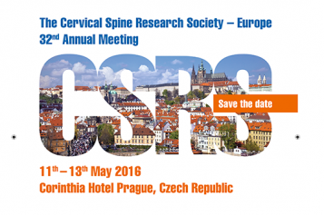 CSRS Prague 2016: 32nd Annual Meeting of the Cervical Spine Research Society