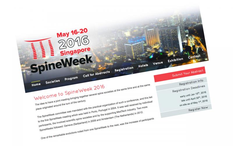 16–20 May 2016 – SpineWeek 2016
