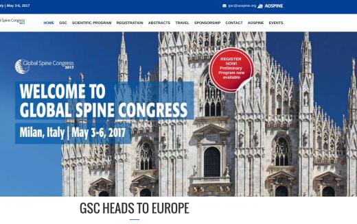 3–6 May 2017 – Global Spine Congress 2017; Milan
