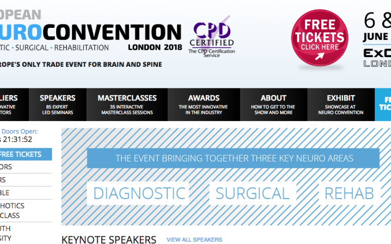 6–7 June 2018 – The European Neuro Convention; London