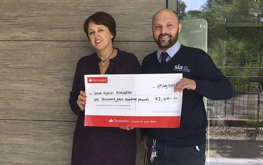 STEPS Rehabilitation raise £1,400 for the Spinal Injuries Association