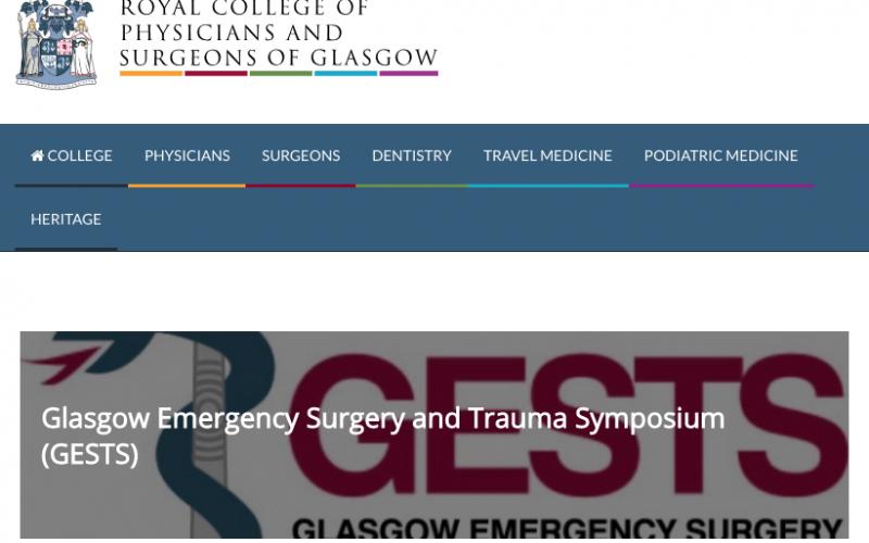 21-22 February 2019, Glasgow emergency surgery and trauma symposium 2019; Glasgow