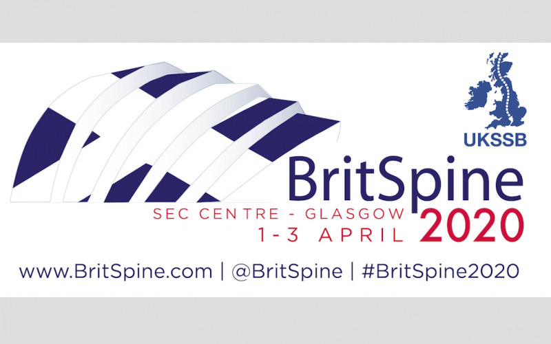 1-3 April 2020, BritSpine 2020; Glasgow
