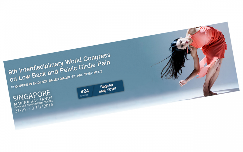 31 October 2016 – 3 November 2016 – 9th Interdisciplinary World Congress on low back and pelvic girdle pain