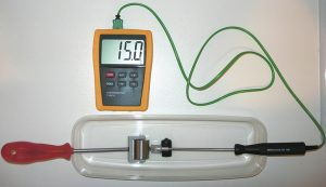 Figure 4: A Thermoroller cooled to 15 degrees centigrade can be used to examine for signs of cold hyperalgesia.