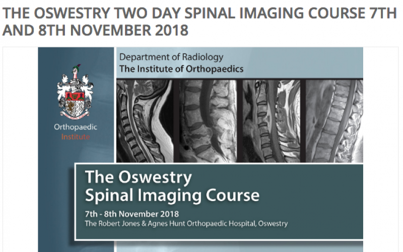 7-8 November 2018, Two-day spinal imaging course; Oswestry