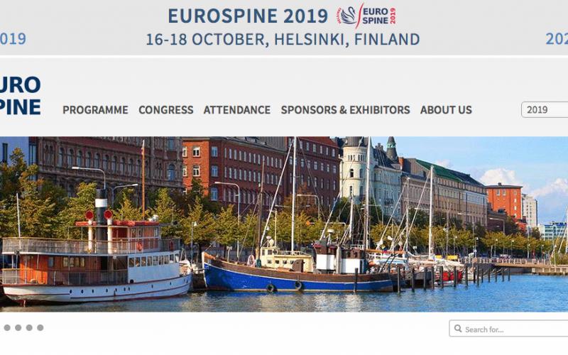 16-18 October 2019, EUROSPINE 2019; Helsinki, Finland
