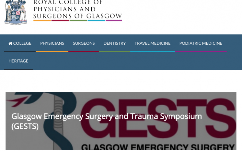 21-22 February 2019, Glasgow emergency surgery and trauma symposium 2019; Glasgow