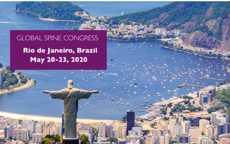 20-23 May 2020, Global Spine Congress; Rio de Janeiro – CANCELLED