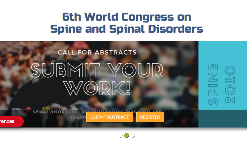 21-22 September 2020, The 6th World Congress on Spine and Spinal Disorders; Dubai