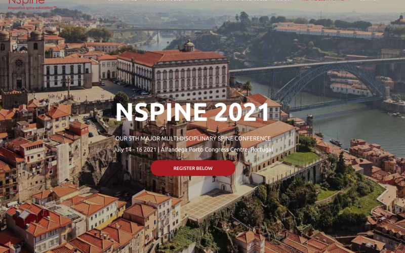 13-16 July 2021, NSpine Conference; Portugal
