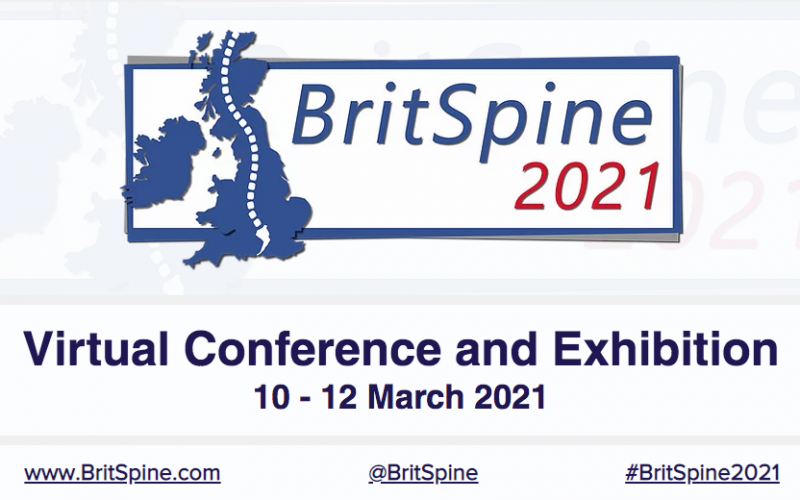 10-12 March 2021, BritSpine 2021; Virtual event