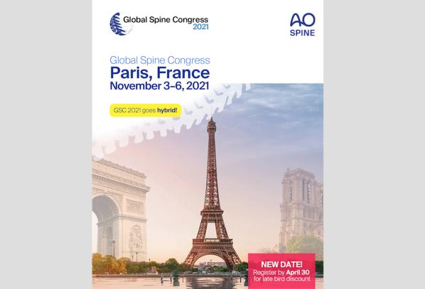 3-6 November 2021, Global Spine Congress; Paris