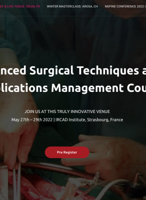 27-29 May 2022, NSpine Advanced Surgical Techniques and Complications Management Course; IRCAD, France